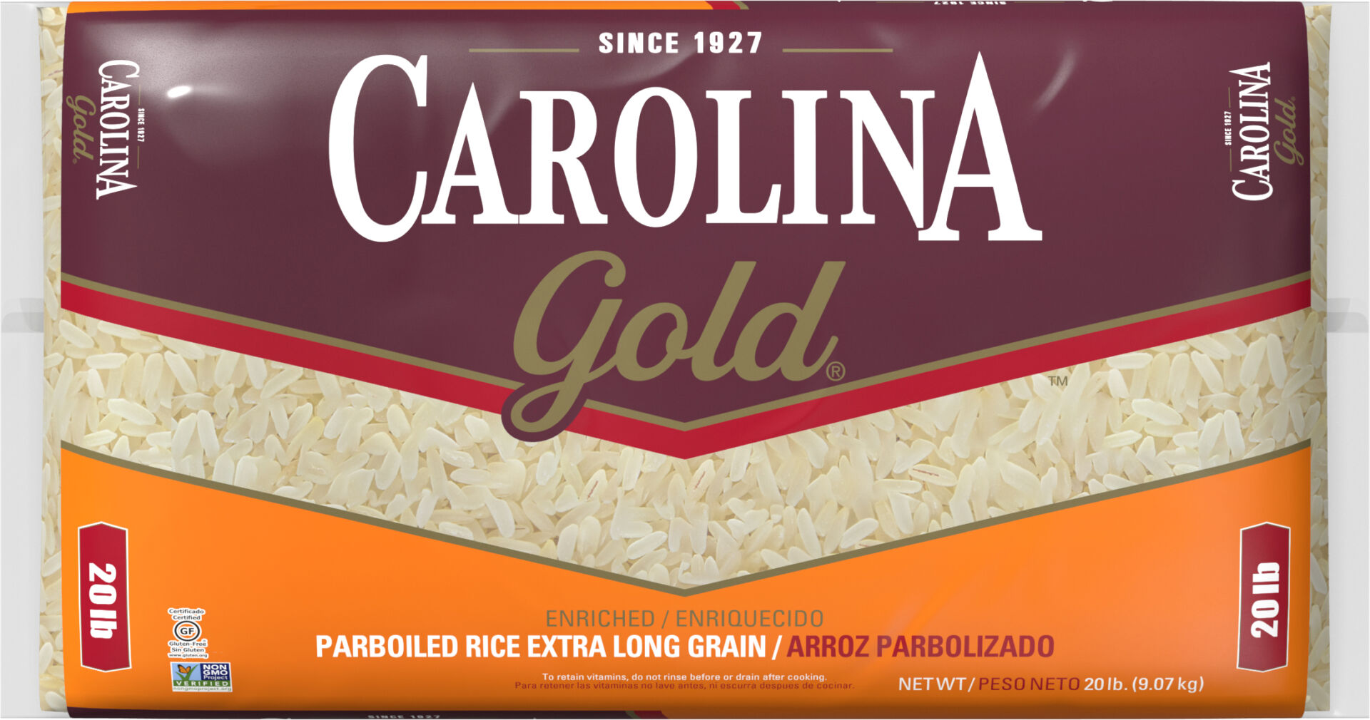 Carolina Gold Parboiled Rice Extra Long Grain