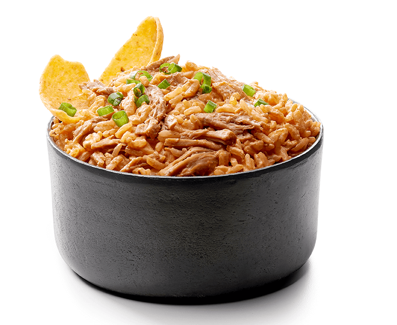 Dip de arroz con pulled pork
