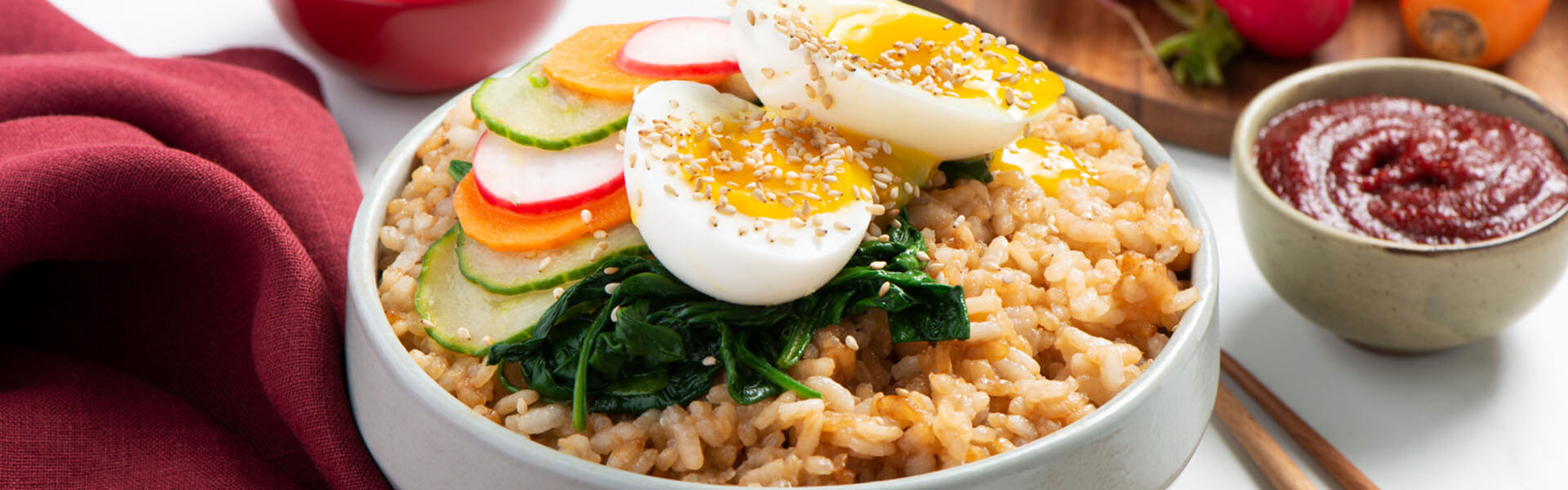 Korean-Inspired Bibimbap Rice Bowl