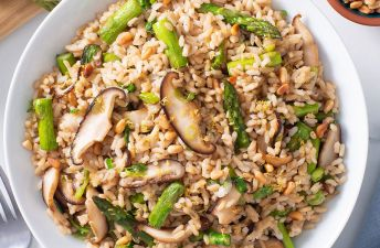 Brown Rice & Shiitake Pilaf