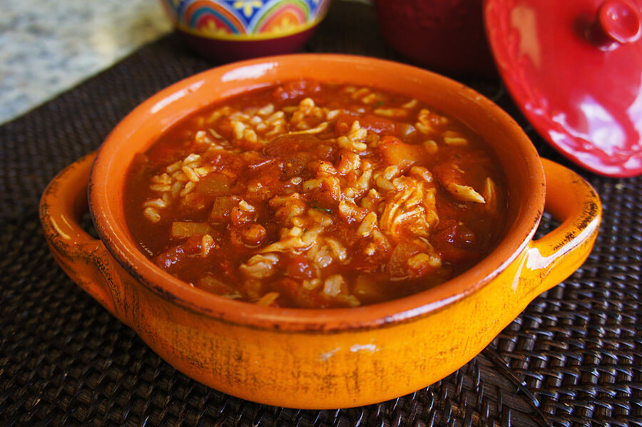Chicken Enchilada Rice Soup