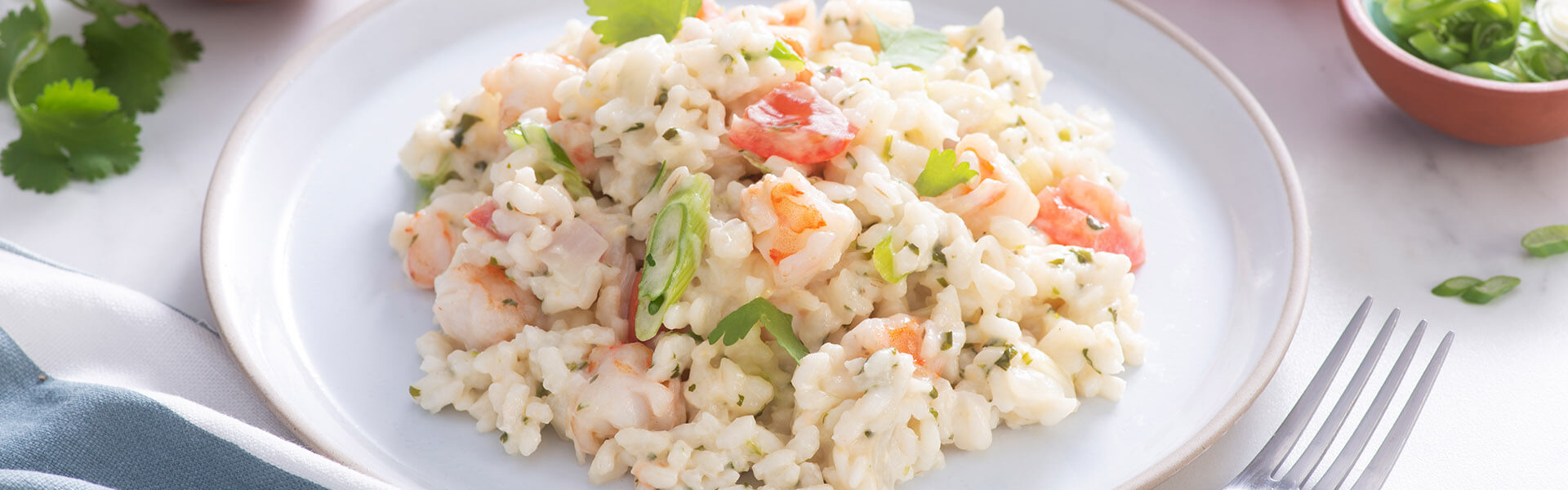 Creamy Risotto with Cilantro & Shrimp