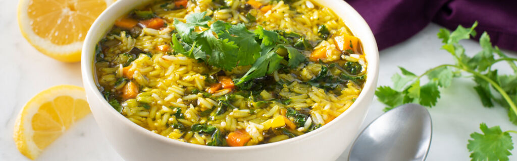 Curried Veggie Jasmine Rice with Quinoa Soup