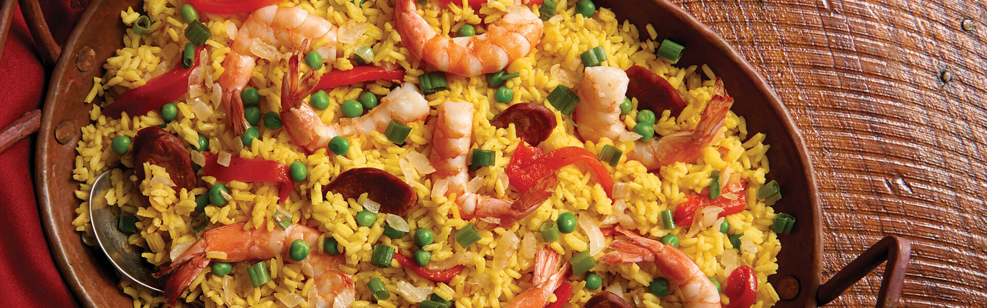 Easy Paella with Sausage & Shrimp