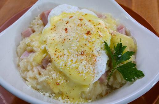 Eggs Benedict Risotto