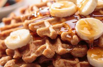 Gluten Free Banana Rice Waffles