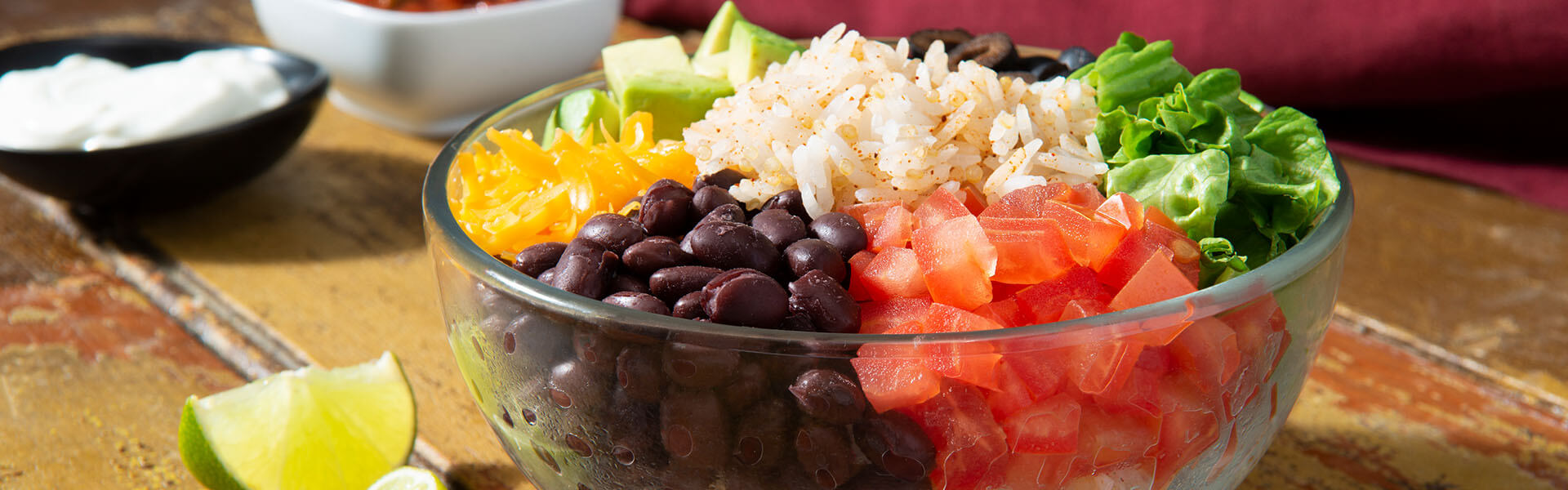 Rice & Beans Taco Bowl with Quinoa