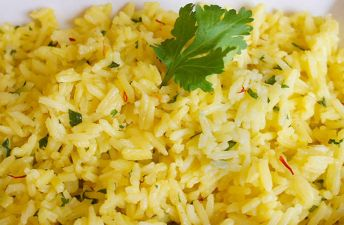 Lime Saffron Basmati Rice with Cilantro