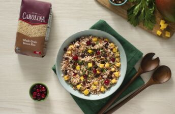 Rice-salad-with-brown-rice-mango-cranberries-and-pecan