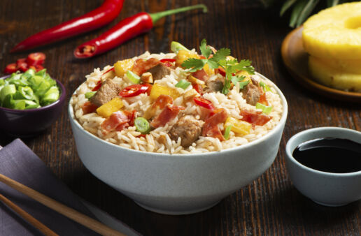 fried-rice-recipe-with-salami-pineapple-and-pork