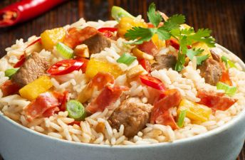 Pineapple Salami Fried Rice with pork