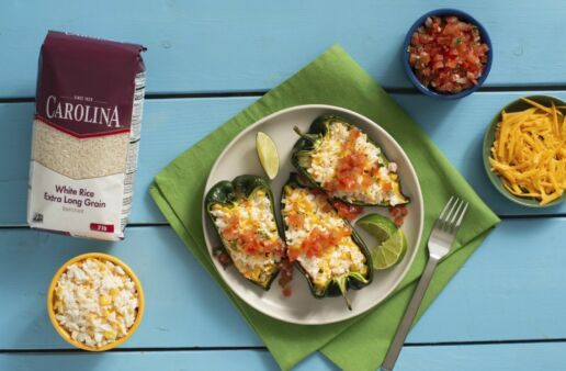 poblano-peppers-stuffed-with-white-rice-and-topped-with-pico-de-gallo