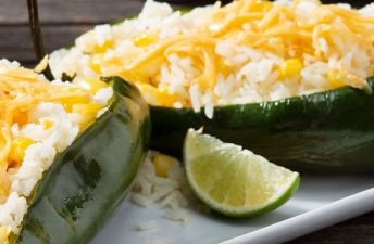 Rice Stuffed Poblanos