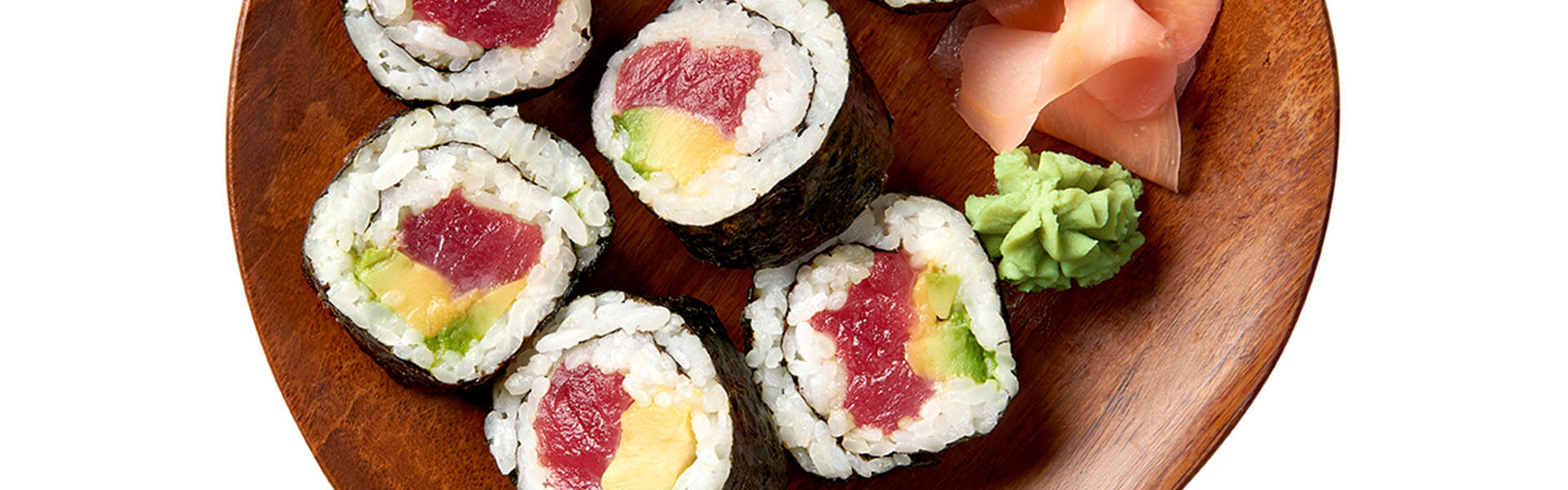 Sushi from Authentic Grains with Avocado & Tuna