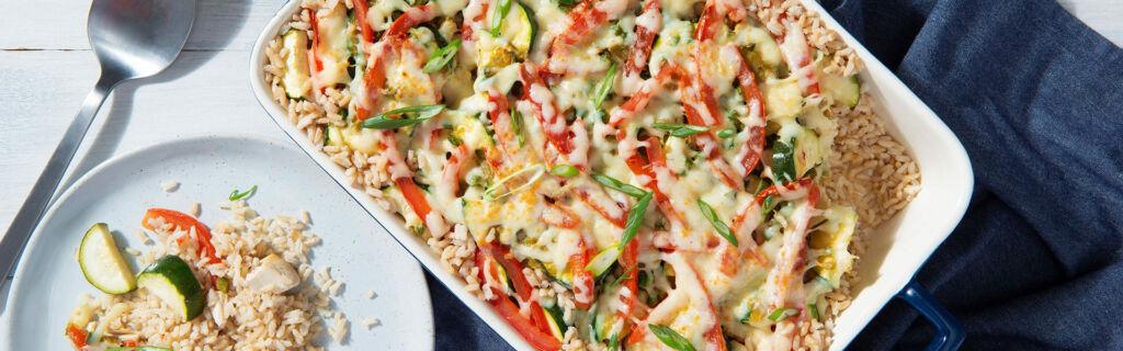 Southwest Chicken & Rice Casserole dish