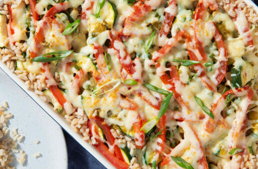 Southwest Chicken & Rice Casserole dish