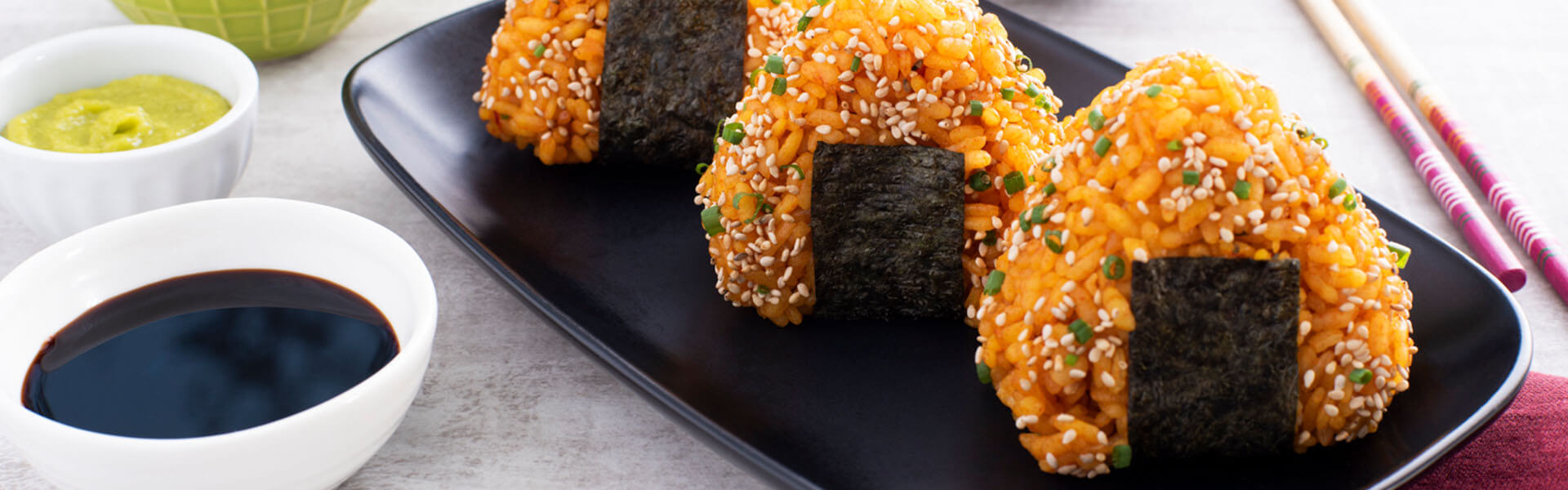Spanish Inspired Shrimp Onigiri