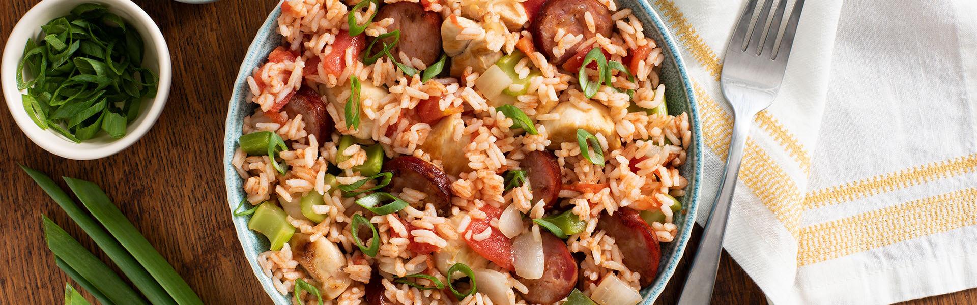 Rice Cooker Spicy Cajun Jambalaya