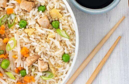 Stir Fried Chicken & Jasmine with Quinoa