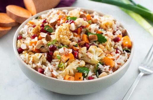 Middle-Eastern-Roasted-Sweet-Potato-Cauliflower-Jasmine-Red-White-Rice