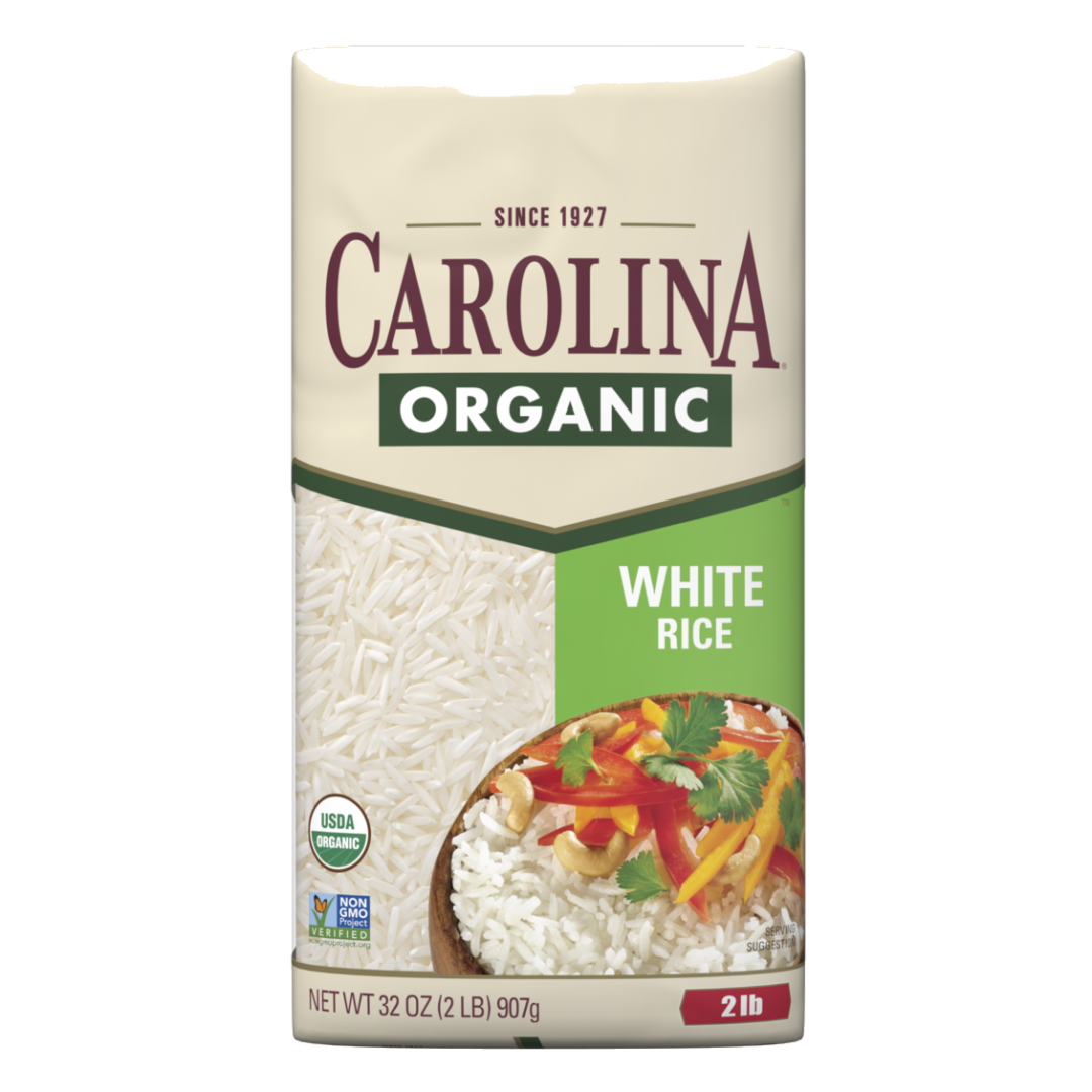Carolina Organic Rice product package