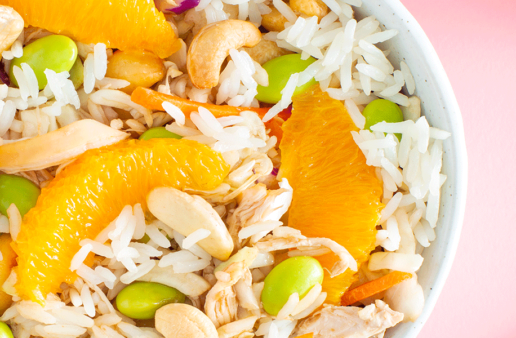 Asian Chicken & Jasmine Rice Salad with Cashew and Edamame