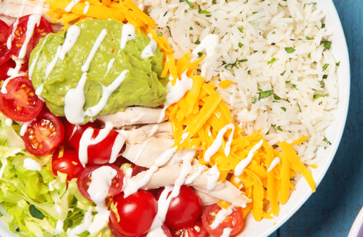 Chicken Burrito Rice Bowl