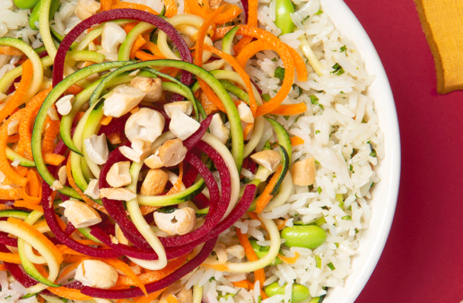 Jasmine Rice and Spiralized Salad Bowl