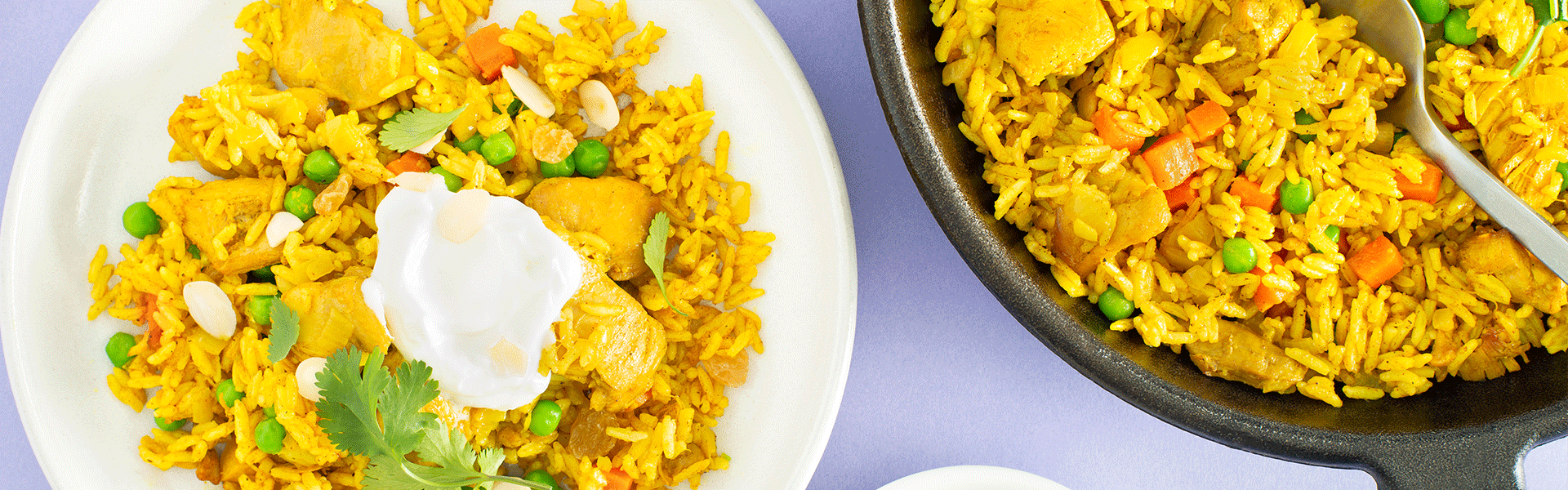 Chicken Biryani with Jasmine Rice & Greek Yogurt