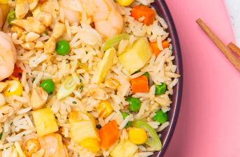 Shrimp Fried Rice with Pineapple and Egg