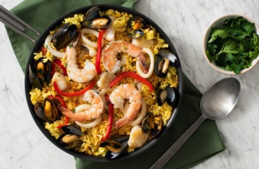 Authentic Spanish Paella with Seafood
