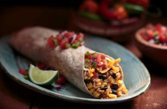 Brown Rice & Black Bean Burrito