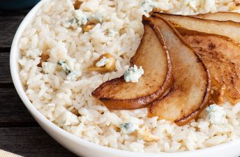 Risotto with Pears and Blue Cheese in a bowl