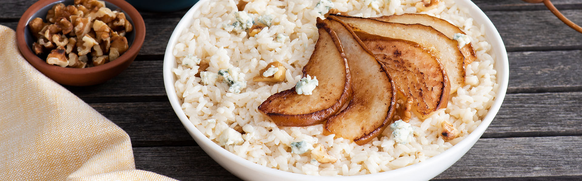 Creamy Risotto with Pears and Blue Cheese