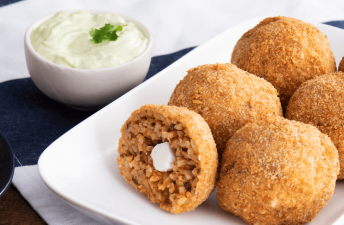 Spicy Chorizo Croquettes with Avocado Cream