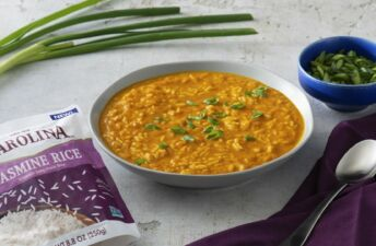 rice and curry Thai pumpkin soup