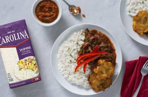 Ropa Vieja with Jasmine Rice and Fried Plantains