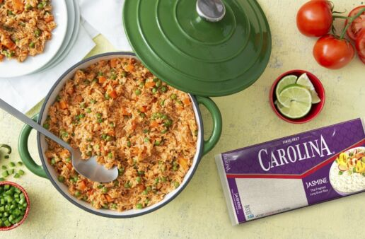 Mexican Rice with Carrots, Peas, Tomatoes and Jasmine Rice
