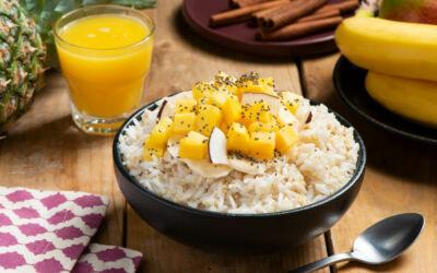 Ideas con arroz para el desayuno