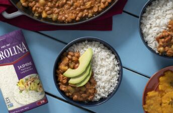 Arroz Habichuelas Guisadas Rice and beans dish