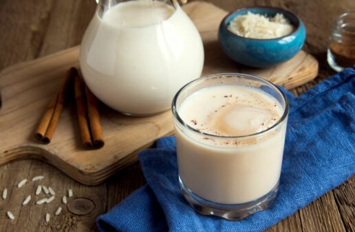 Horchata made with rice and cinnamon