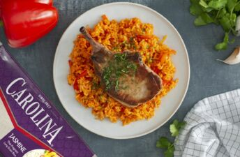 Key West Pork Chop recipe with rice