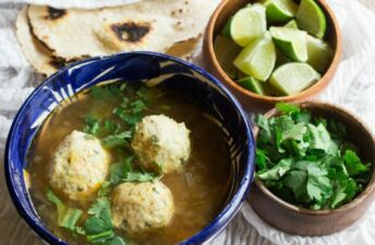 Chicken albondigas soup