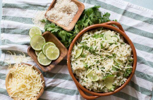 Creamy Arroz Verde (Green Rice) dish