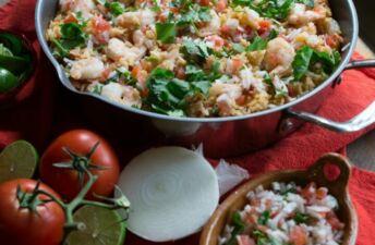 Shrimp Pico Rice Skillet