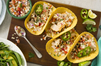 Grilled-chicken-tacos-with-whole-grain-brown-rice-salsa