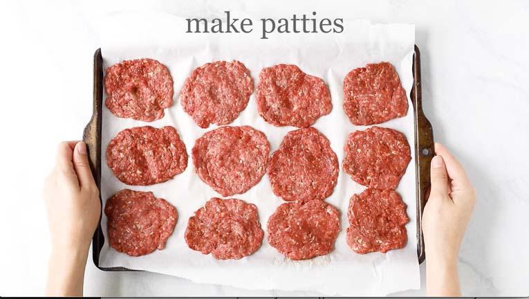 seasoned beef burger patties