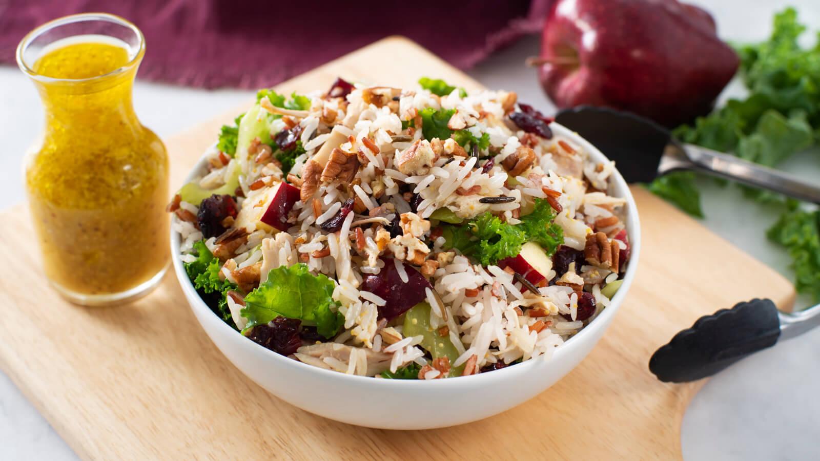 Citrus, Kale & Wild Rice Salad with Chicken