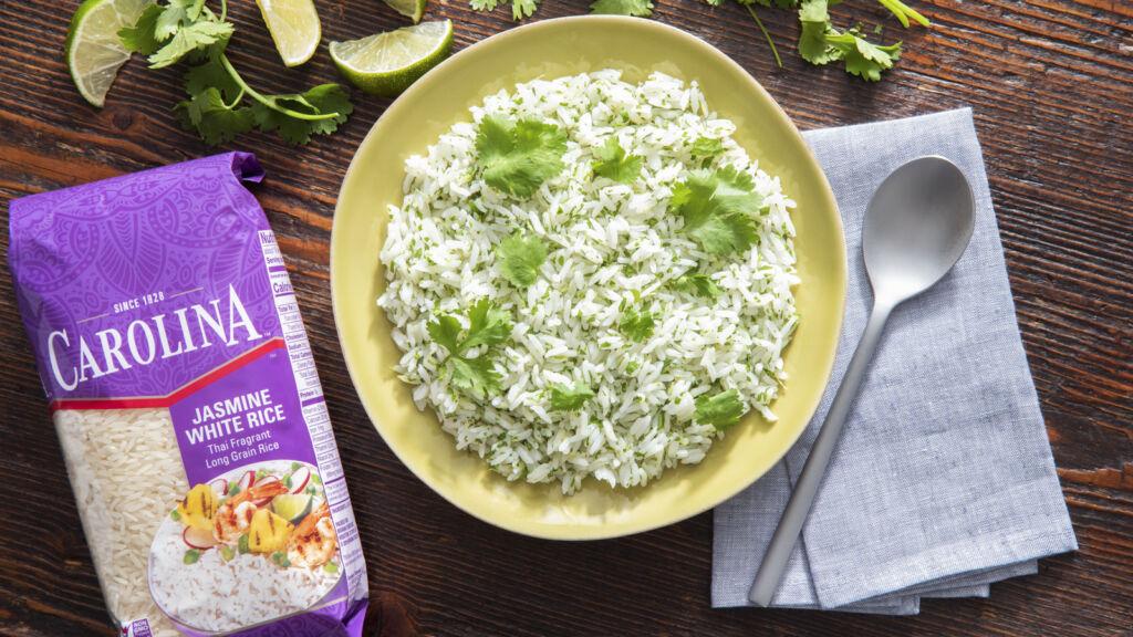 Cilantro lime rice with jasmine