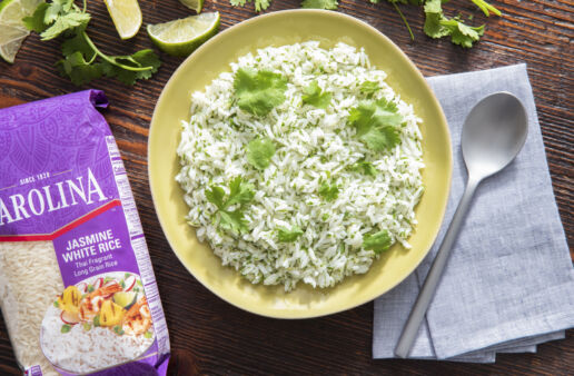 Cilantro lime rice with jasmine